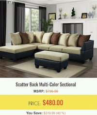 white and black sectional couch Hyattsville, 20781