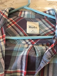 blue, red, and white plaid sport shirt Yonkers, 10710