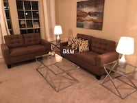 Brand new brown sofa and loveseat  1204 mi