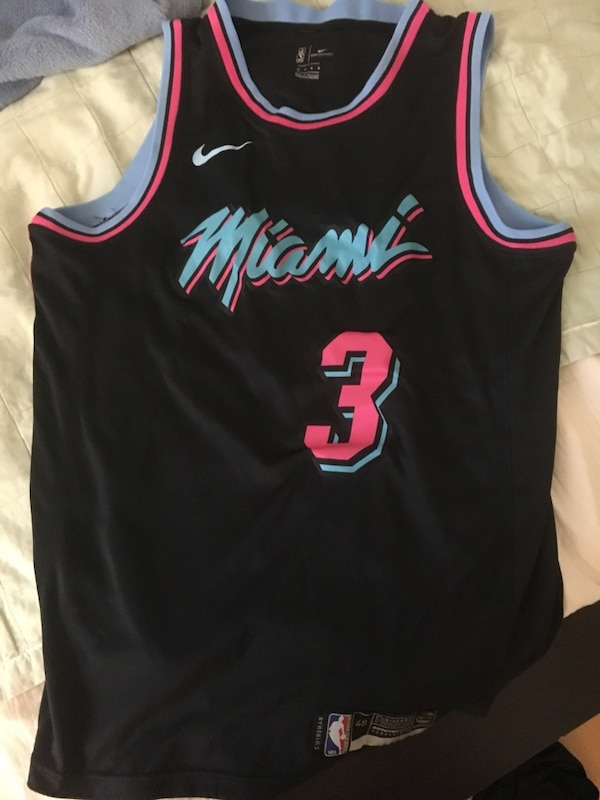 newest collection 0151c f979c Dwayne Wade Vice City Nike Jersey Size M (48)
