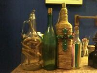 two brown and green glass bottles Jennings, 70546