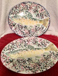 Dishes. Hand painted and signed Columbia, 21045