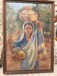 brown wooden framed painting of woman Largo, 33771
