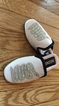 beige-and-gray Meimi home slippers