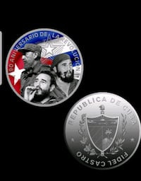 anniversary of the Cuban revolution coin ar