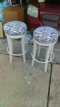 two white-and-brown bar stools Katy, 77449