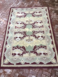 white, red, and green floral area rug Menlo Park, 94025