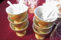 6 - fine china dessert bowls Vaughan