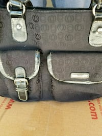 black and gray leather handbag Henderson, 89052