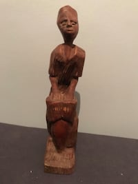 Hand Carved Wooden Haitian statue