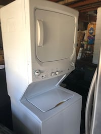 White stackable washer and dryer Sacramento, 95819