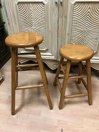 2 Wooden Made In The USA Stools $75 For The Pair Vancouver, V5N 2R8