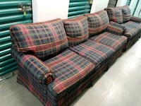 Plaid Sofa and matching love seat Fort Lee, 07024