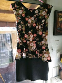 black and pink floral sleeveless dress Bakersfield, 93308