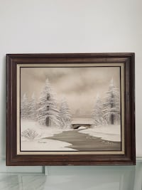 Signed Original Barrister Oil Painting
