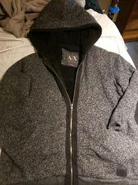 Armani exchange zip up hoodie