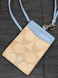 COACH ID Lanyard In Signature Canvas White Plains, 10603