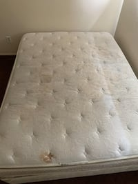 Used Queen mattress and box spring