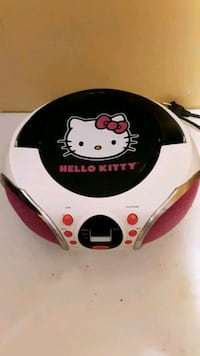 Hello kitty radio and disk player .