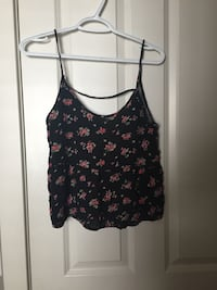 Black floral blouse Calgary
