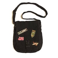 Messenger bag with army patches 1078 mi