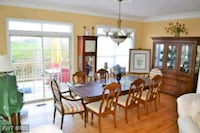 Dining room table with 8 chairs  Frederick