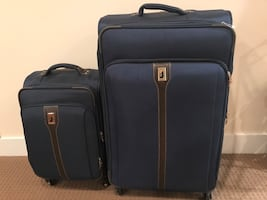 London Fog Big Suitcase / Luggage and Carry-on