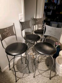 Set of 4 bar stools