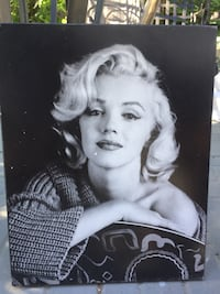 Marilyn Monroe grayscale photo with black wooden frame Calgary, T2W 4V2