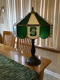 Michigan State University Spartans Tiffany Style stained glass lamp Allen Park, 48101