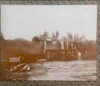 """vintage picture of Antique B&O Railroad Train Scene, Approx 14""""11"""" GC Myrtle Beach"""