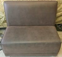 Custom brown leather accent chair. Waterdown