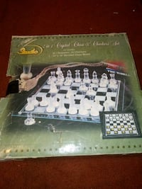 2-in-1 Crystal Chess & Checkers Set Madison, 37115