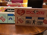 """I Love Lucy"" and ""Hollywood"" versions of the board game monopoly.  Reston, 20191"