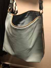 Women's gray leather hobo bag Waldorf, 20601