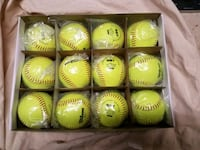 Lot of (12) 12 inch OpticYellow FastPitch Softball New Freedom, 17349