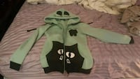 Small teal cat eared hoodie
