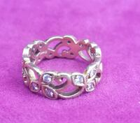 Diamond ring - flower wreathed