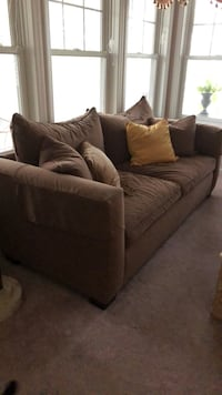 brown fabric sofa with throw pillows Hazleton, 18202