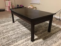 Rectangular brown wooden coffee table Hutto, 78634