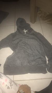 black and gray pullover hoodie 787 km