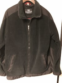 Bugatchi men's black zippered fleece sz XL
