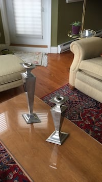 two gray taper candlesticks New Westminster, V3L