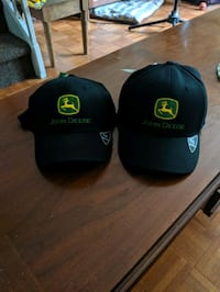 Black John Deere ball cap