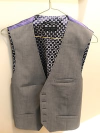 Ted Baker Men's Vest Charcoal Gray 40r
