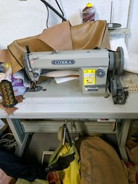 Cobra leather sewing machine,used once!