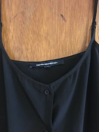 French connection 90s style button up dress