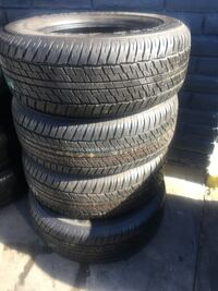 Set 275/60/18 DUNLOP GRANDTREK semi new 95% life $300 includes professional installation and tax.  Whittier, 90605