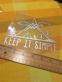 """Awesome car sticker if you live simple 5""""x7"""" 3727 km"""