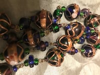 New tag on 129.00 Hand made ceramic  set of earings & necklace